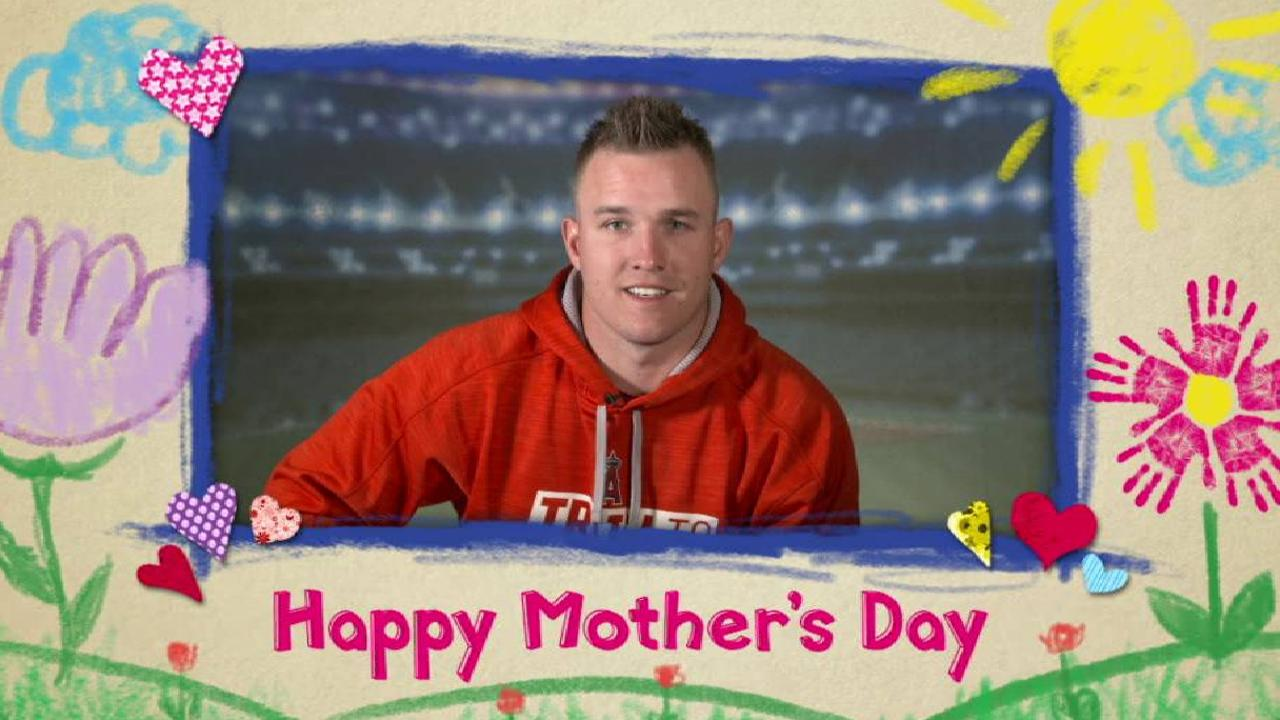 Trout on his mother