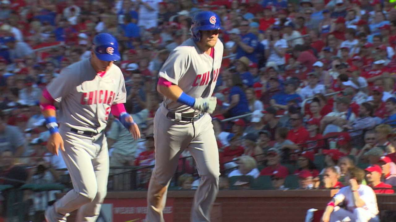Cubs with first HR in debut