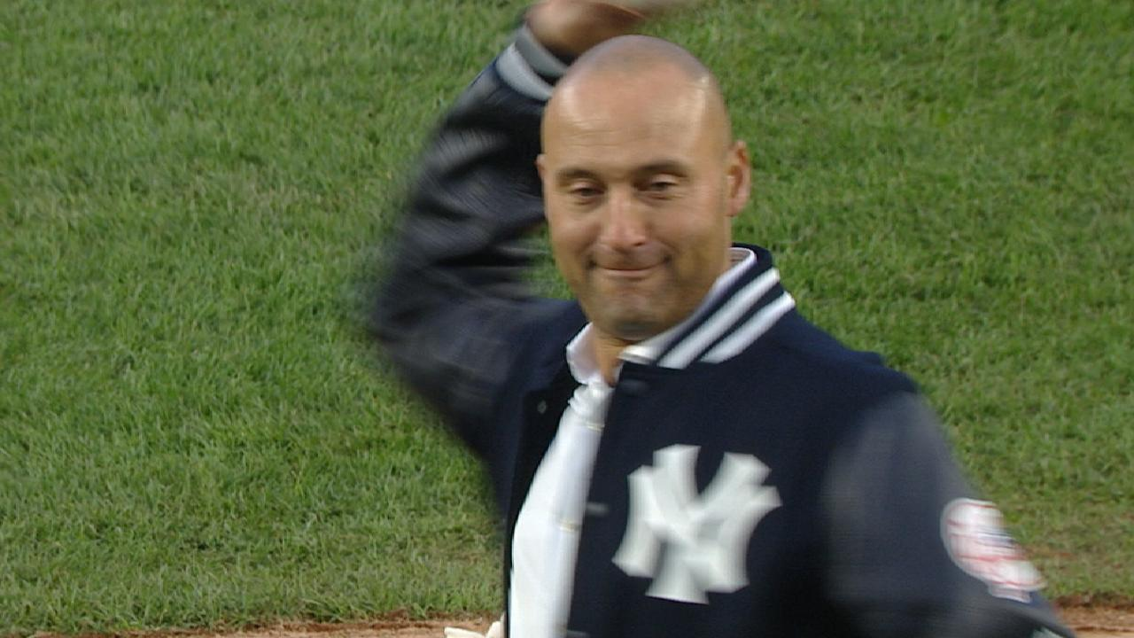 Jeter's first pitch