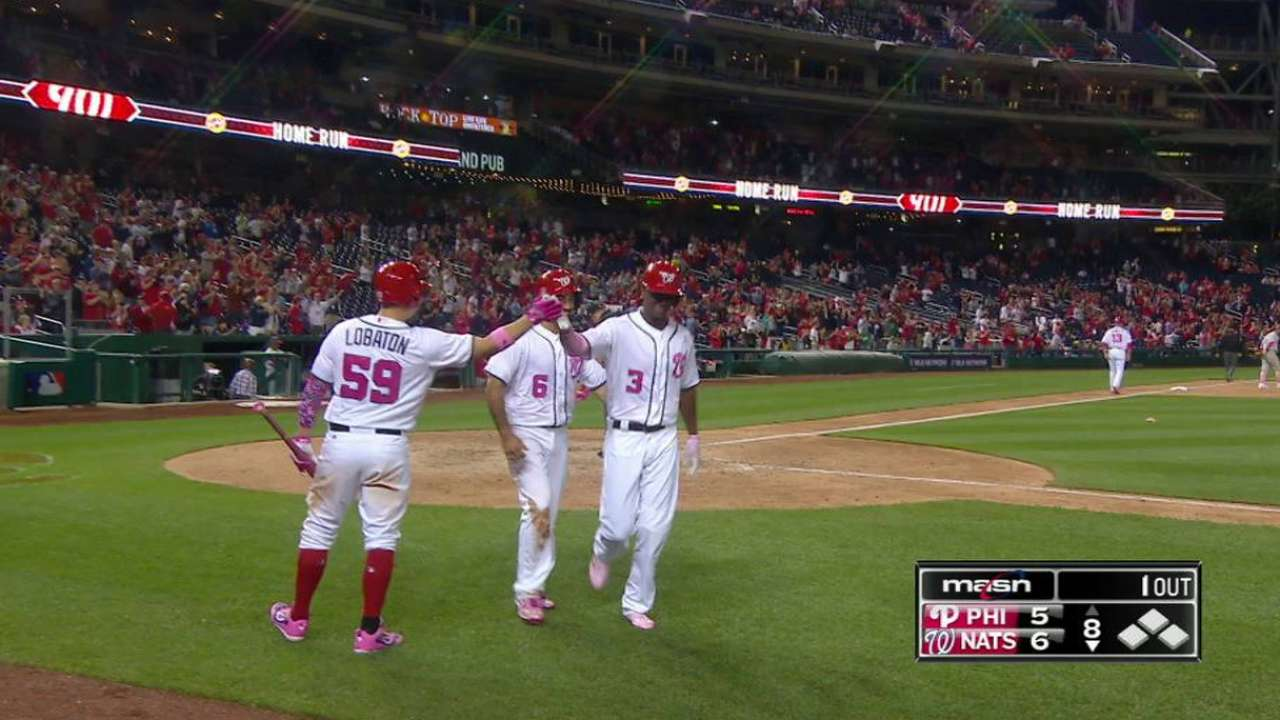 Taylor's 8th-inning HR lifts Nats in nightcap