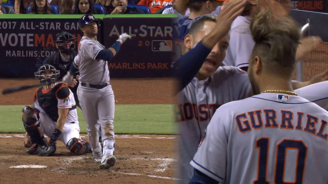 Grand Gurriel: Astros' slam helps down Fish
