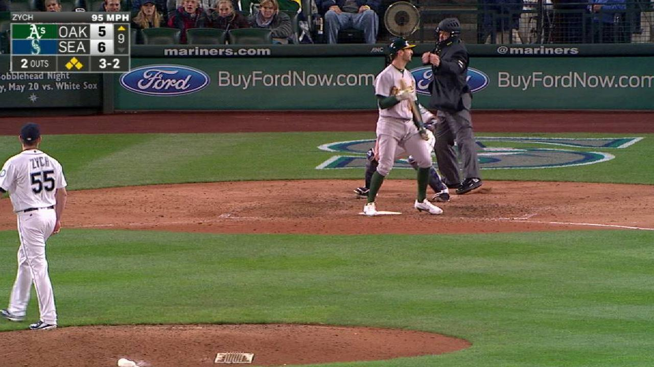 That's a relief: 'Pen prevails, keeps A's at bay