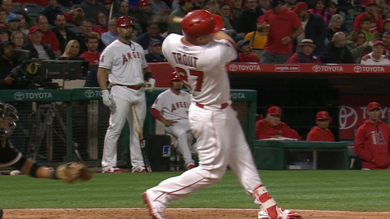 Radio Call: Trout's solo homer