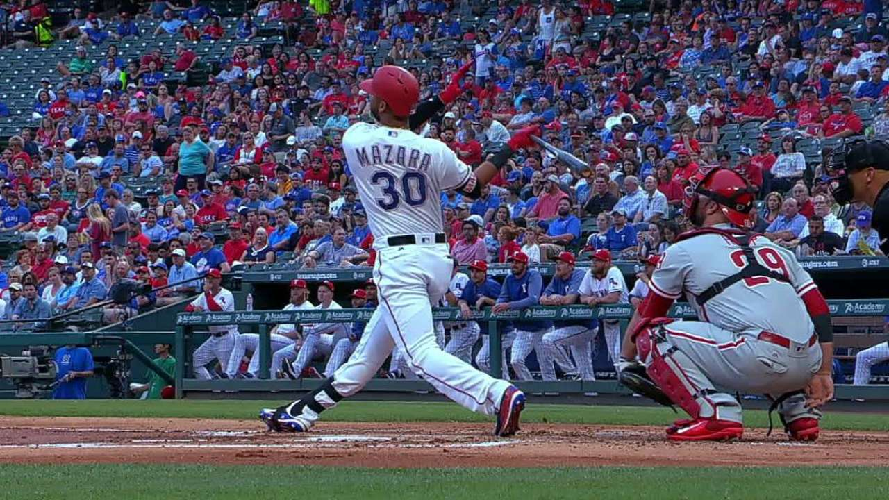 Mazara's towering solo home run