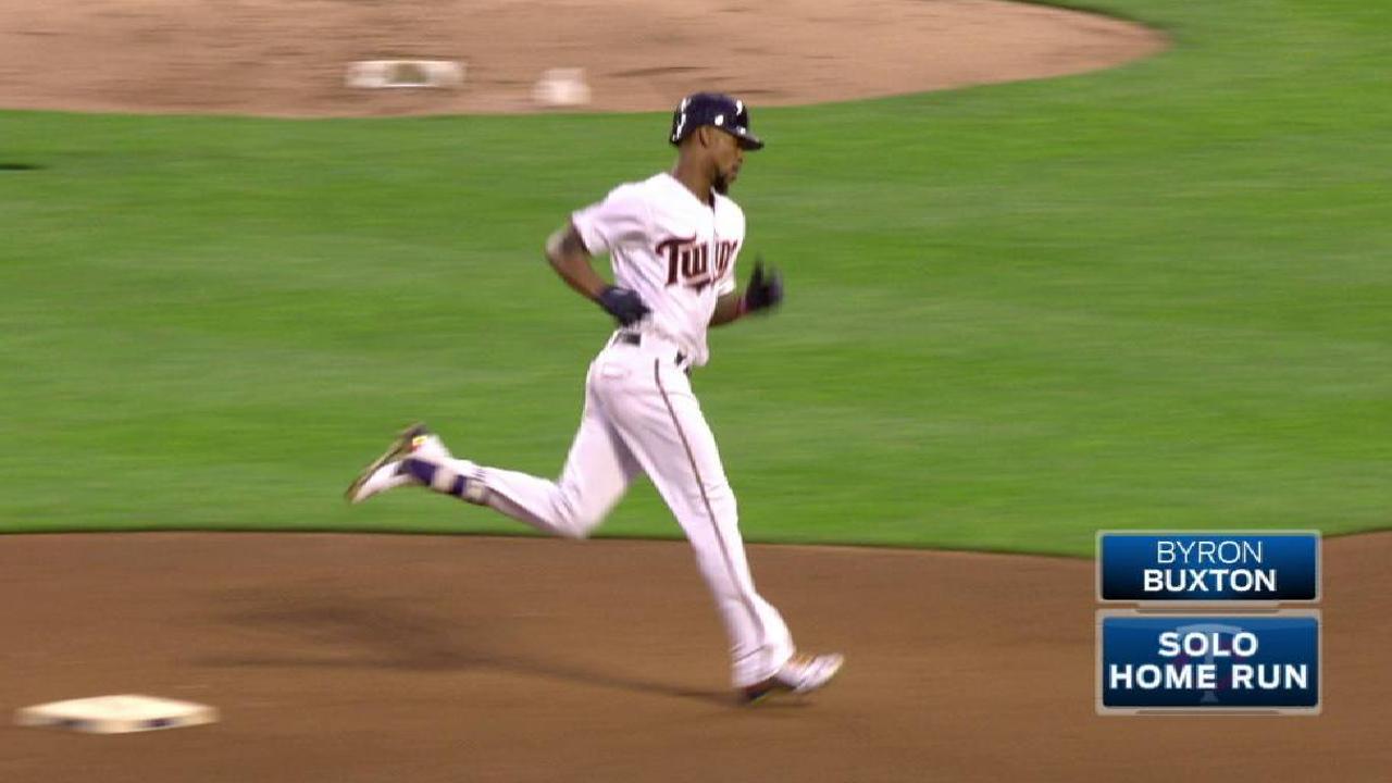Buxton's solo home run to center