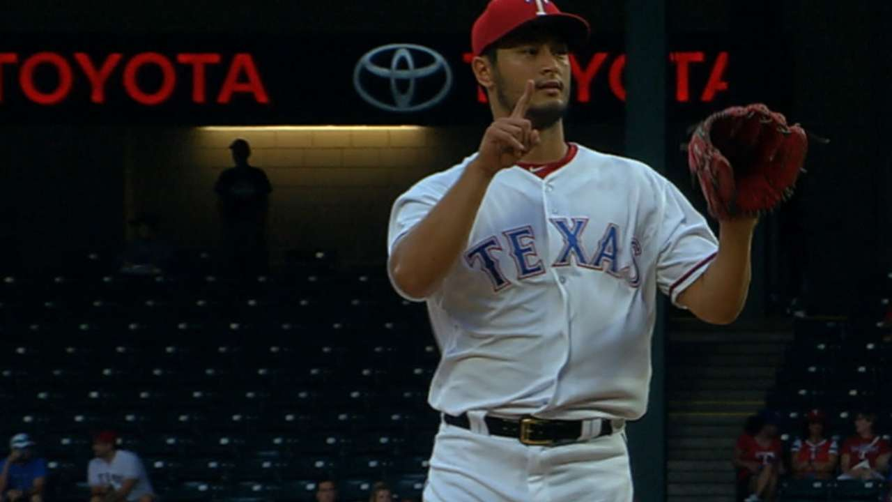 Darvish makes history with 50th career win