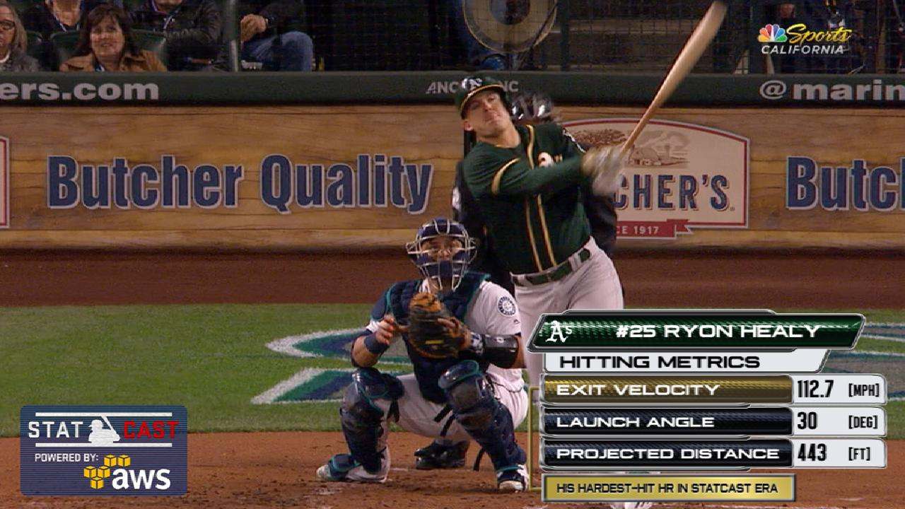 Statcast: Healy's 112.7-mph HR