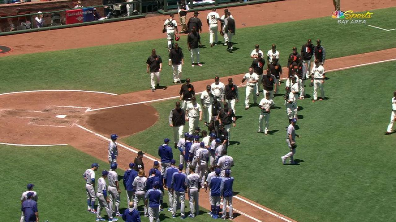 Benches clear in San Francisco