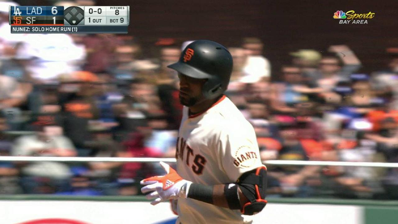 Nunez homers, but Giants can't solve Kershaw