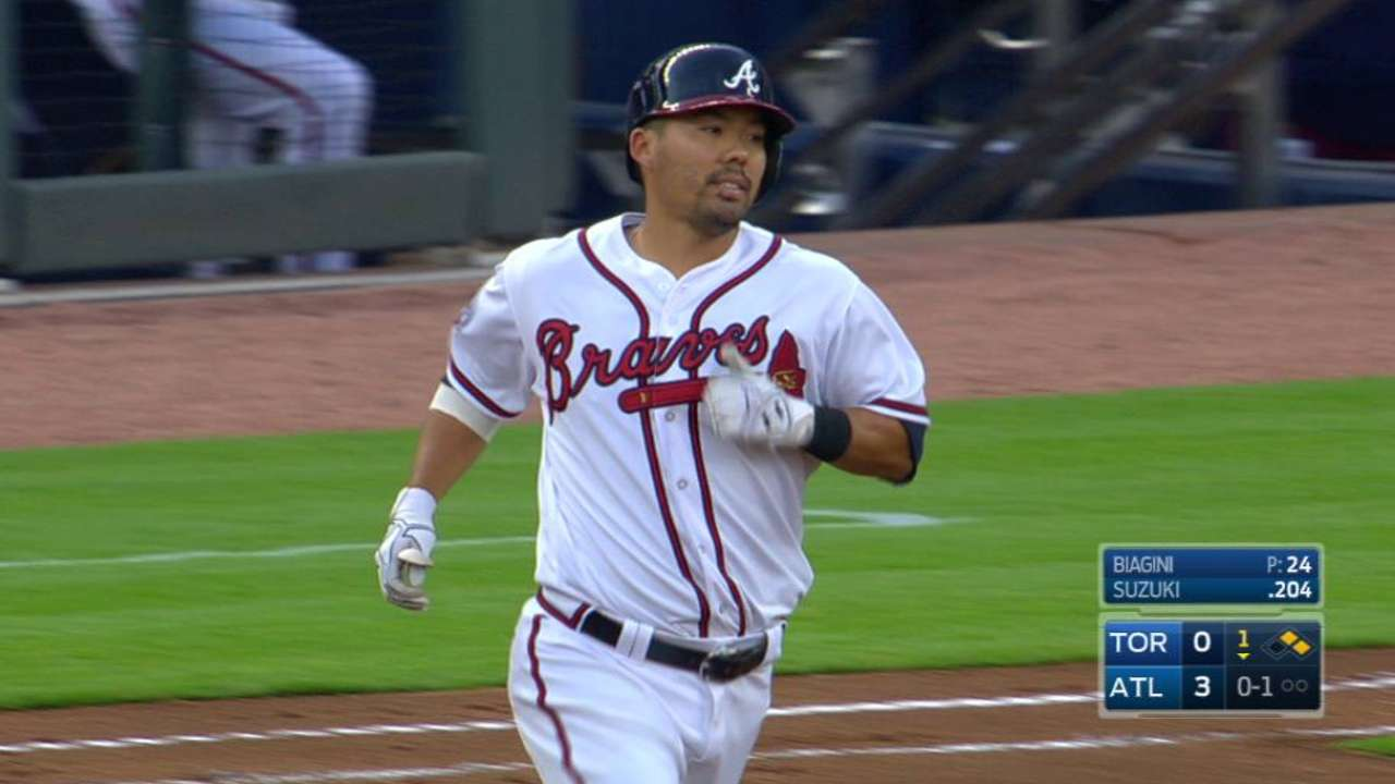 Suzuki seizing chances, impressing Braves