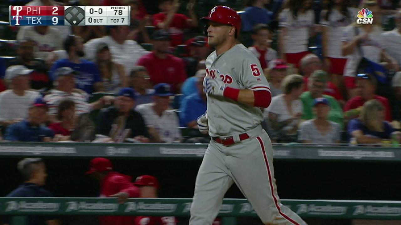 Saunders homer not enough as Phillies fall
