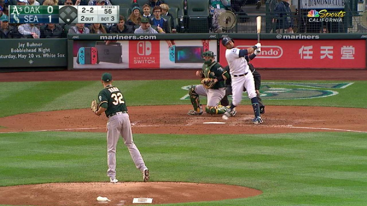 A's offense struggles in loss in series finale