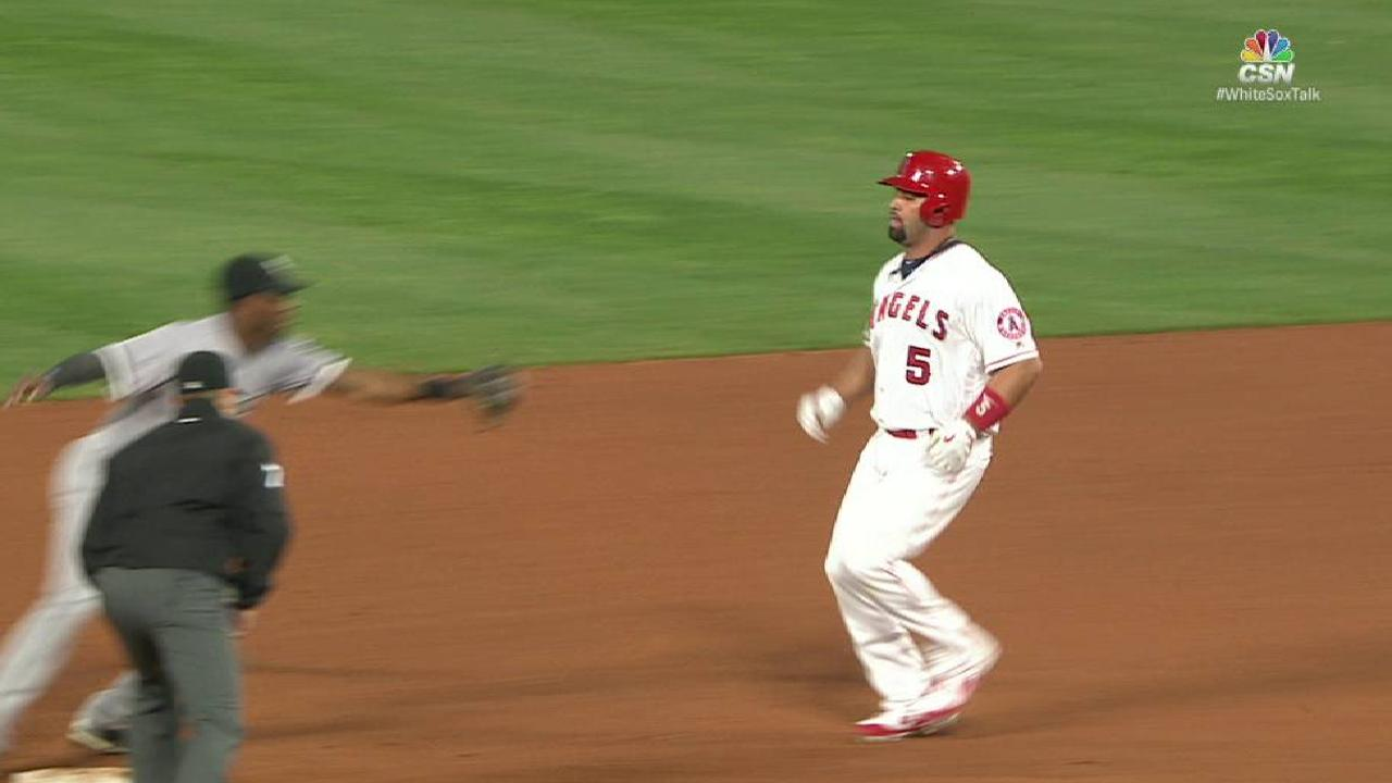 L. Garcia nabs Pujols at second