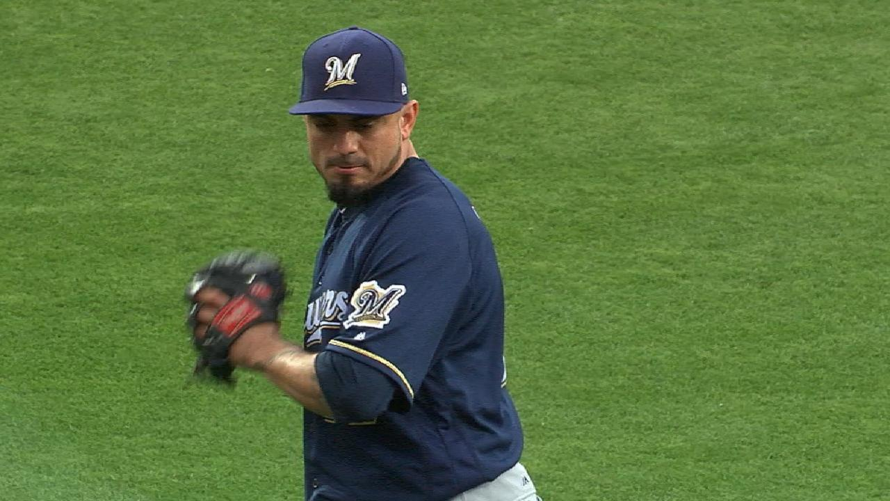 Garza a bright spot in Brewers' rotation