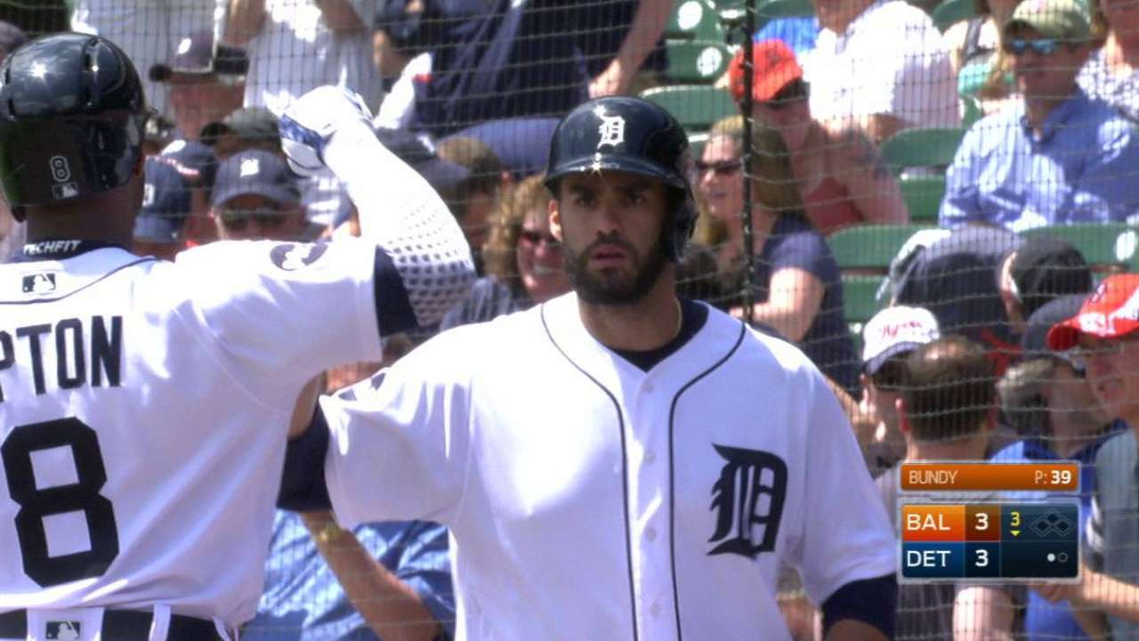 J.D. Martinez's three-run homer