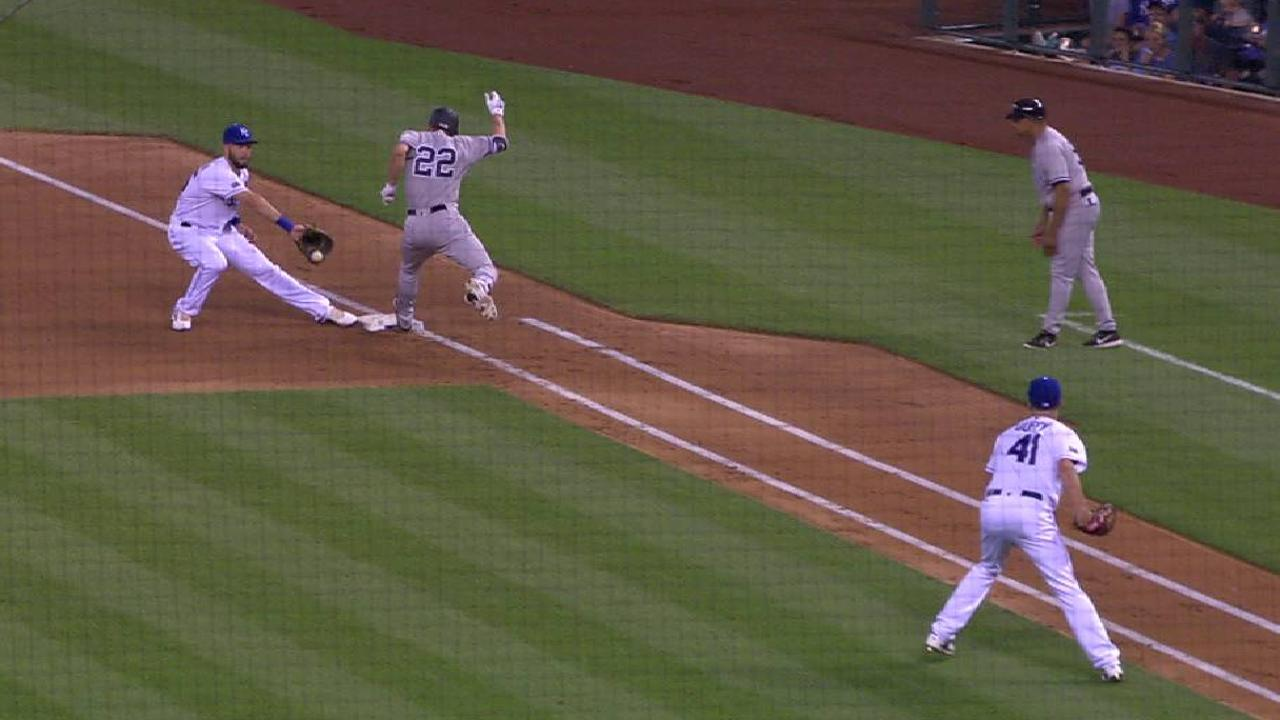 Ellsbury safe after challenge