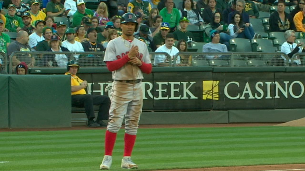 Red Sox cool off after fast start in Oakland