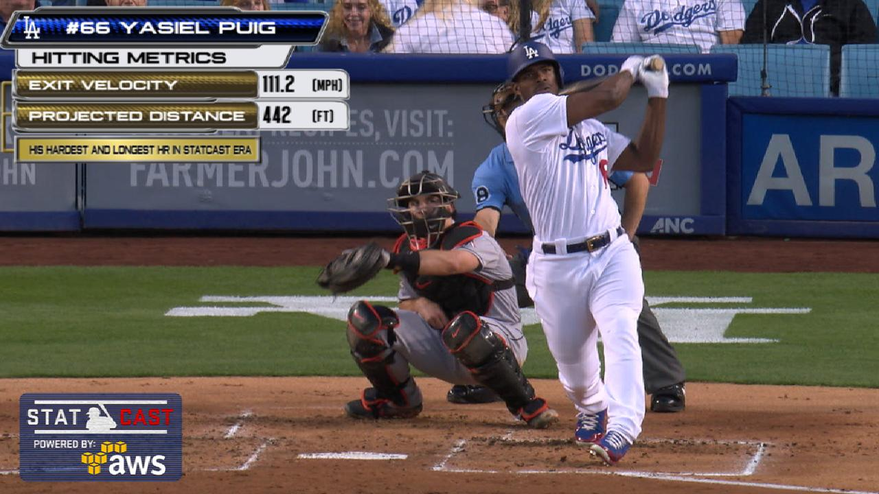 Puig's long HR backs Ryu in win vs. Marlins