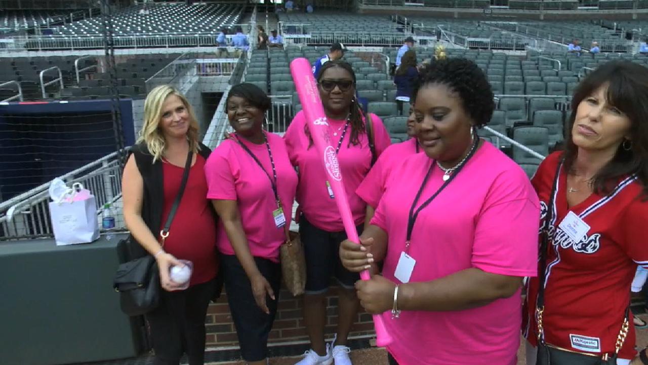 Braves honor local fan as Honorary Bat Girl