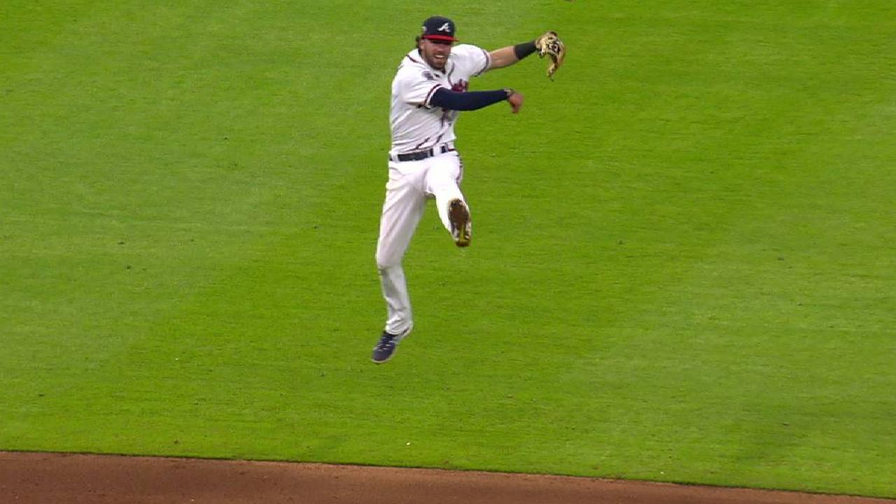 Swanson's backhanded play
