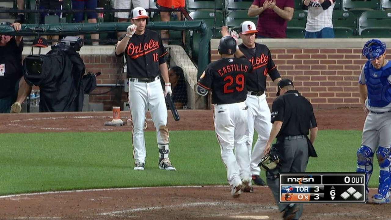 Castillo's two-run homer