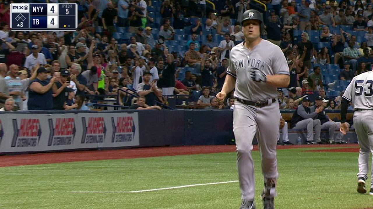 Yanks fall to Rays despite Holliday's heroics