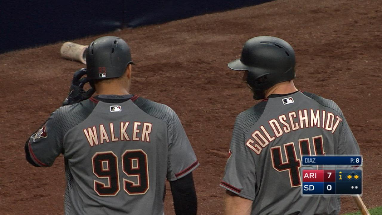 D-backs' eight-run 1st inning