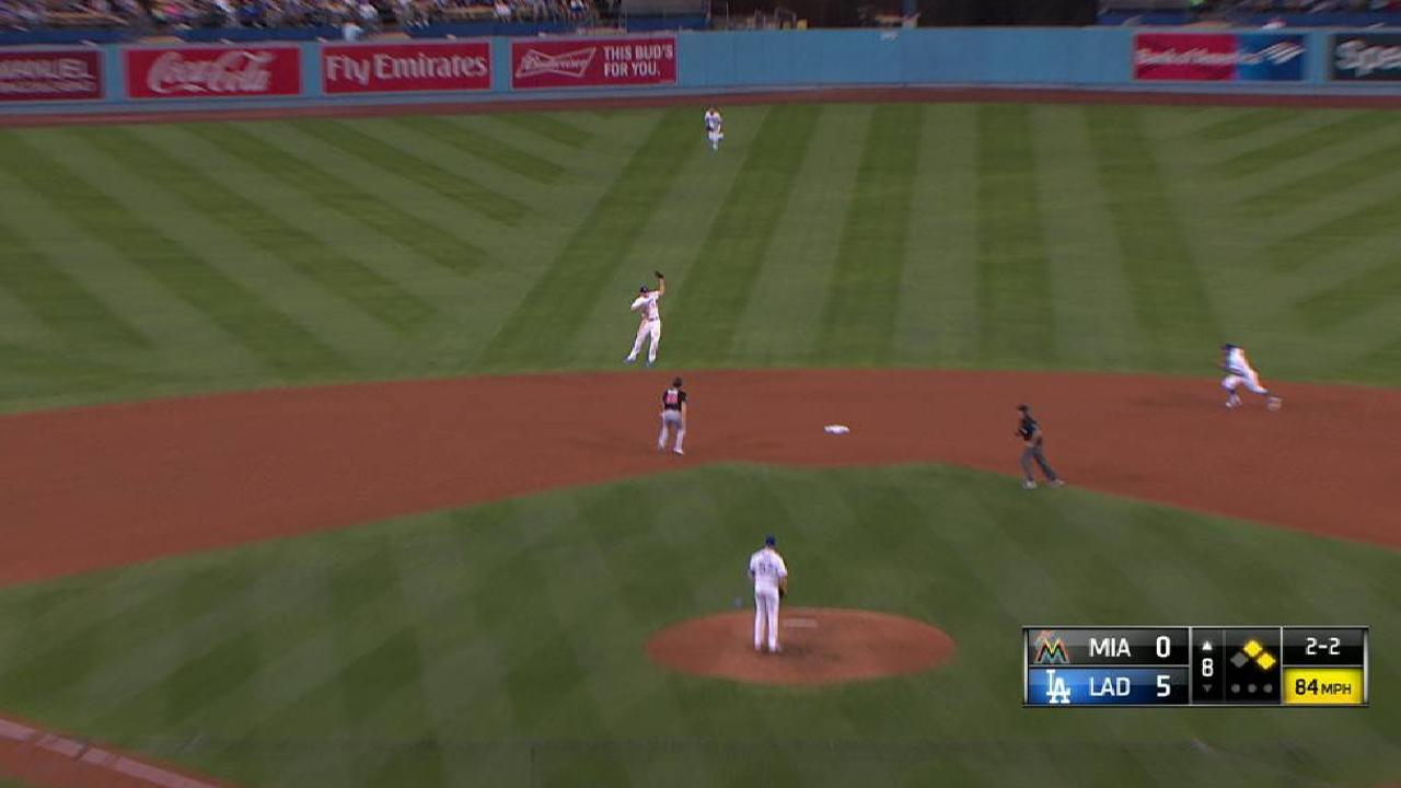 Seager's leaping catch
