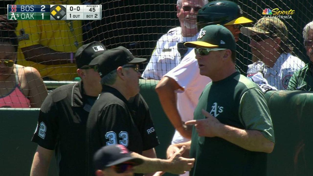 Melvin ejected for arguing call