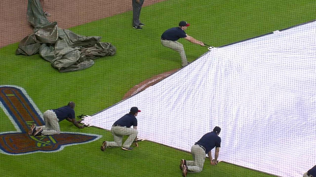 Weather delaying Nats-Braves game
