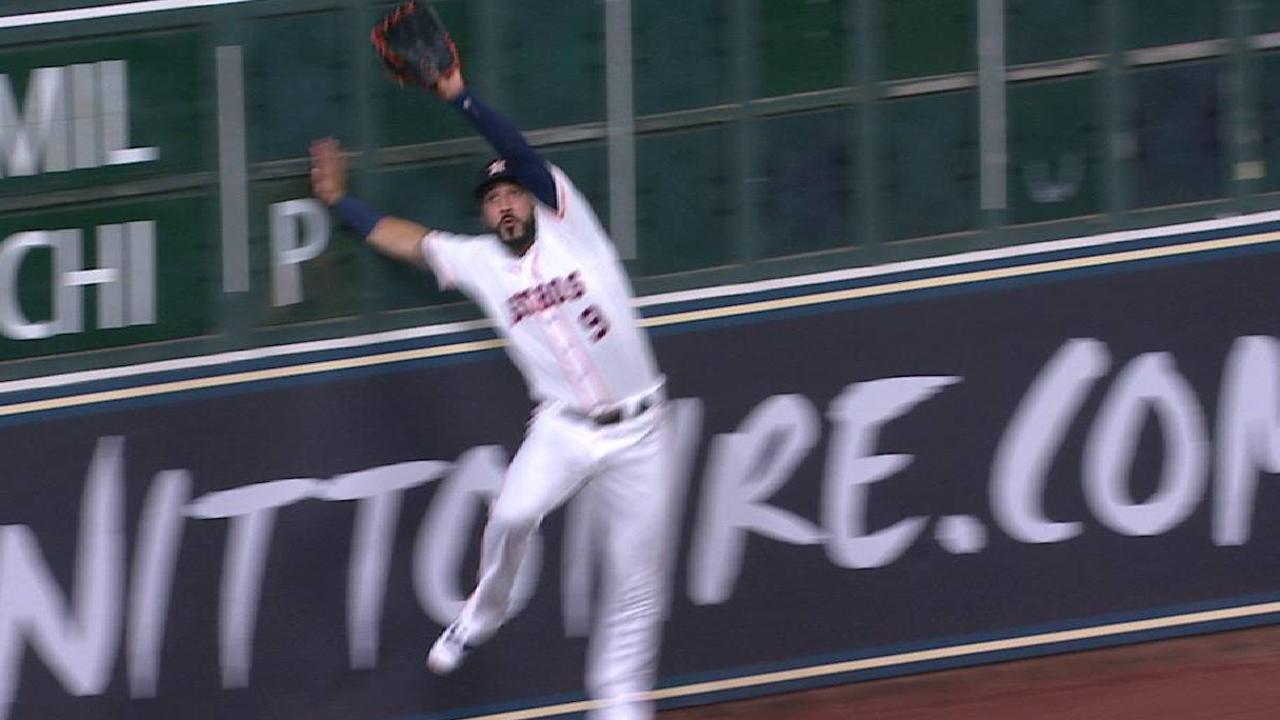 Gonzalez's catch at the wall