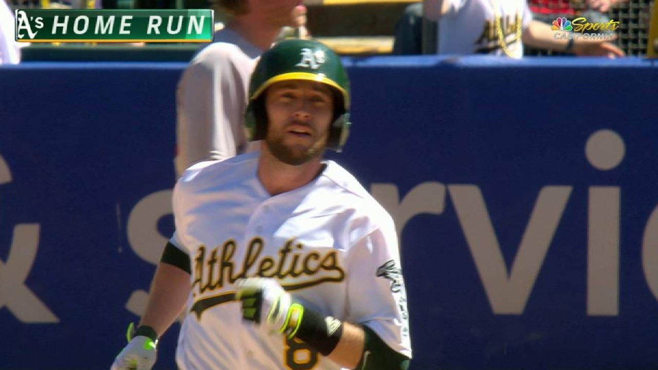 Lowrie's solo home run