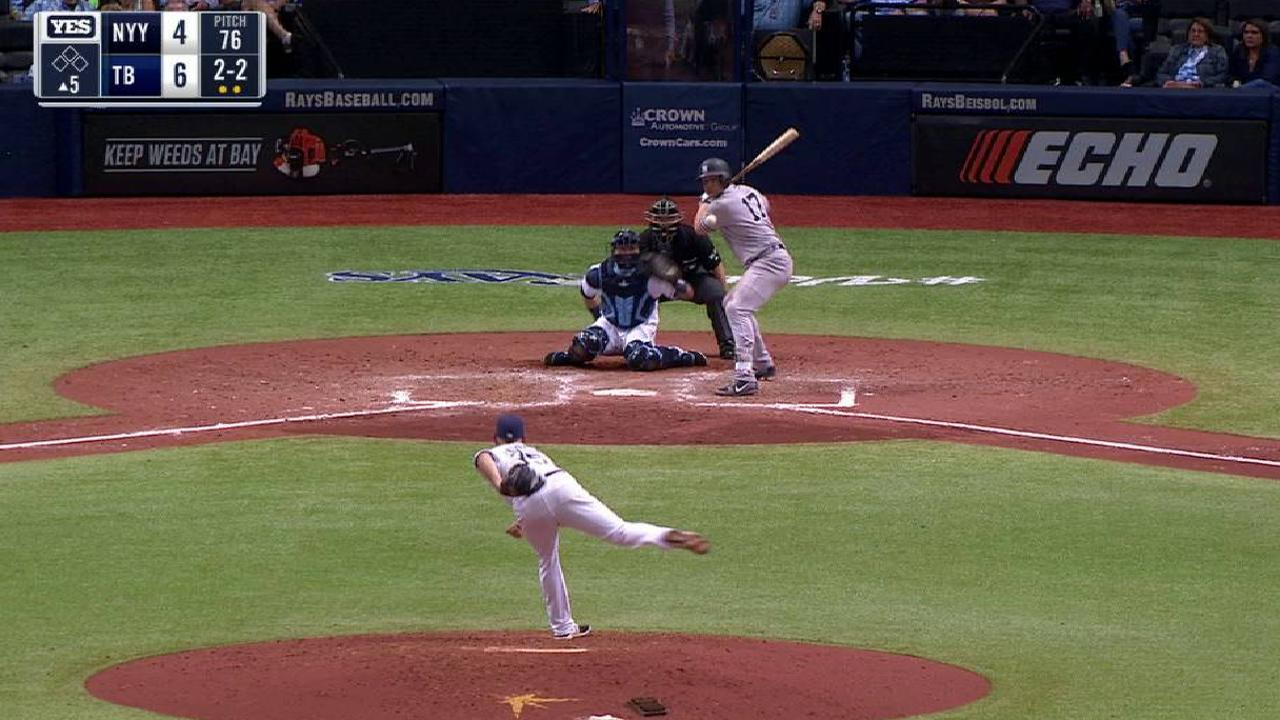 Holliday hit by pitch
