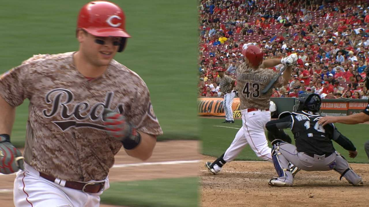 Reds explode for six runs in 6th