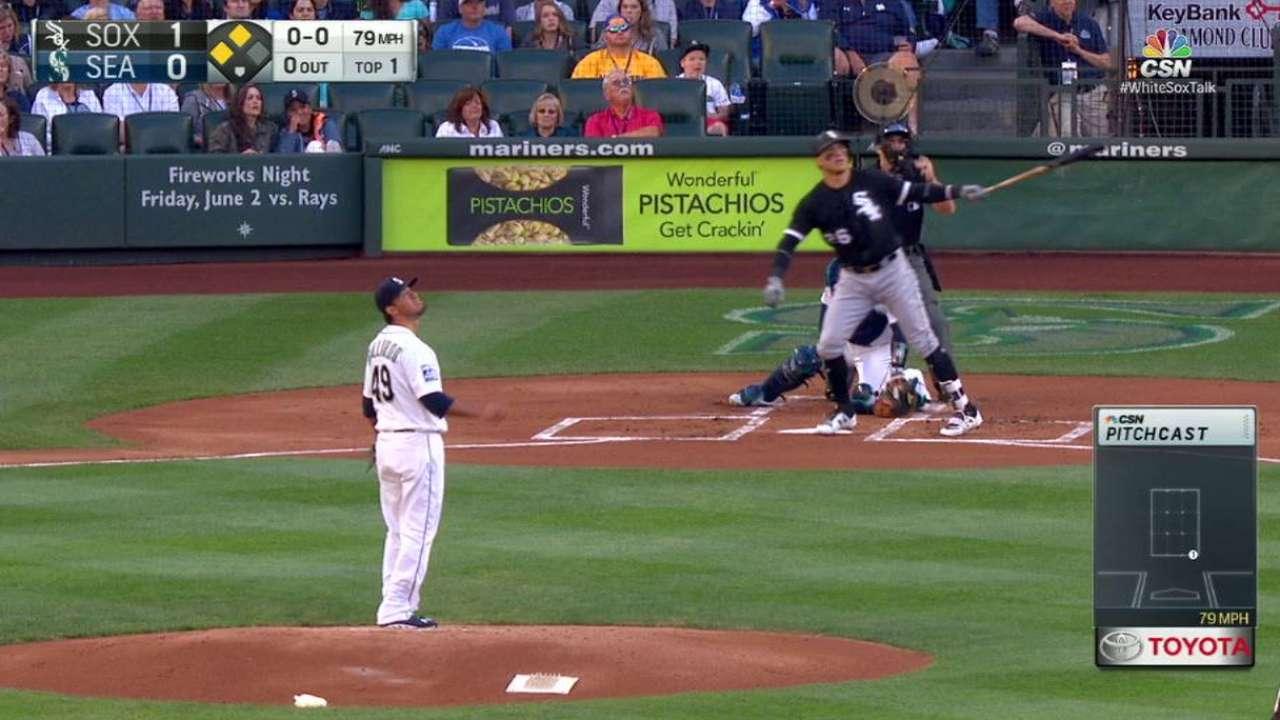 García pega 2 HR y empuja 5 en paliza de White Sox sobre Marineros
