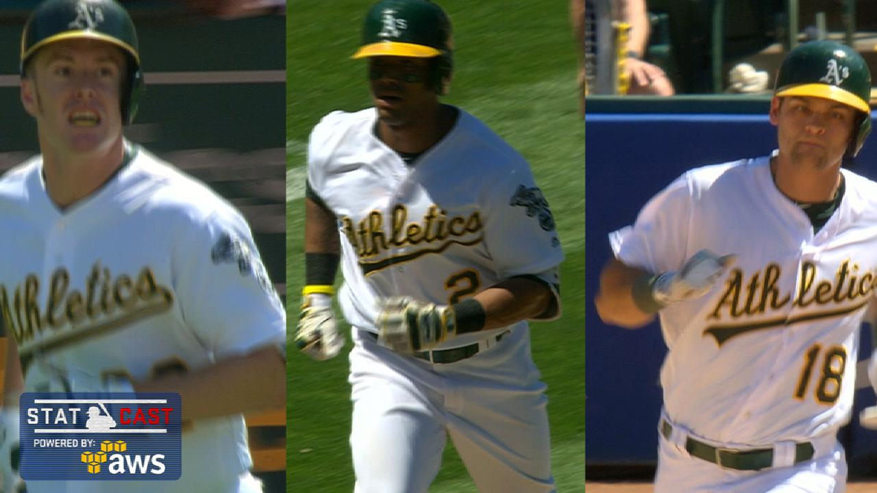 A's belt 3 long HRs in 5th, sink Red Sox