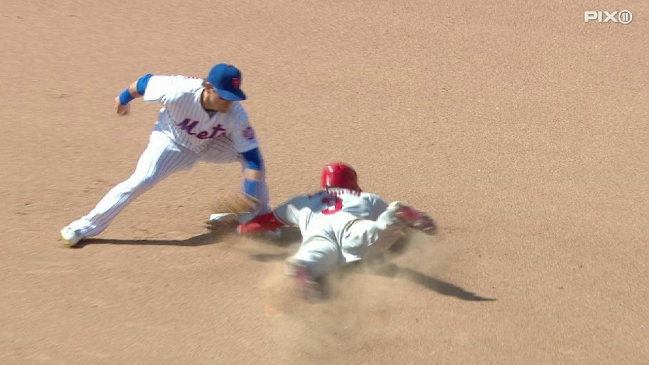 Plawecki throws out Espinosa