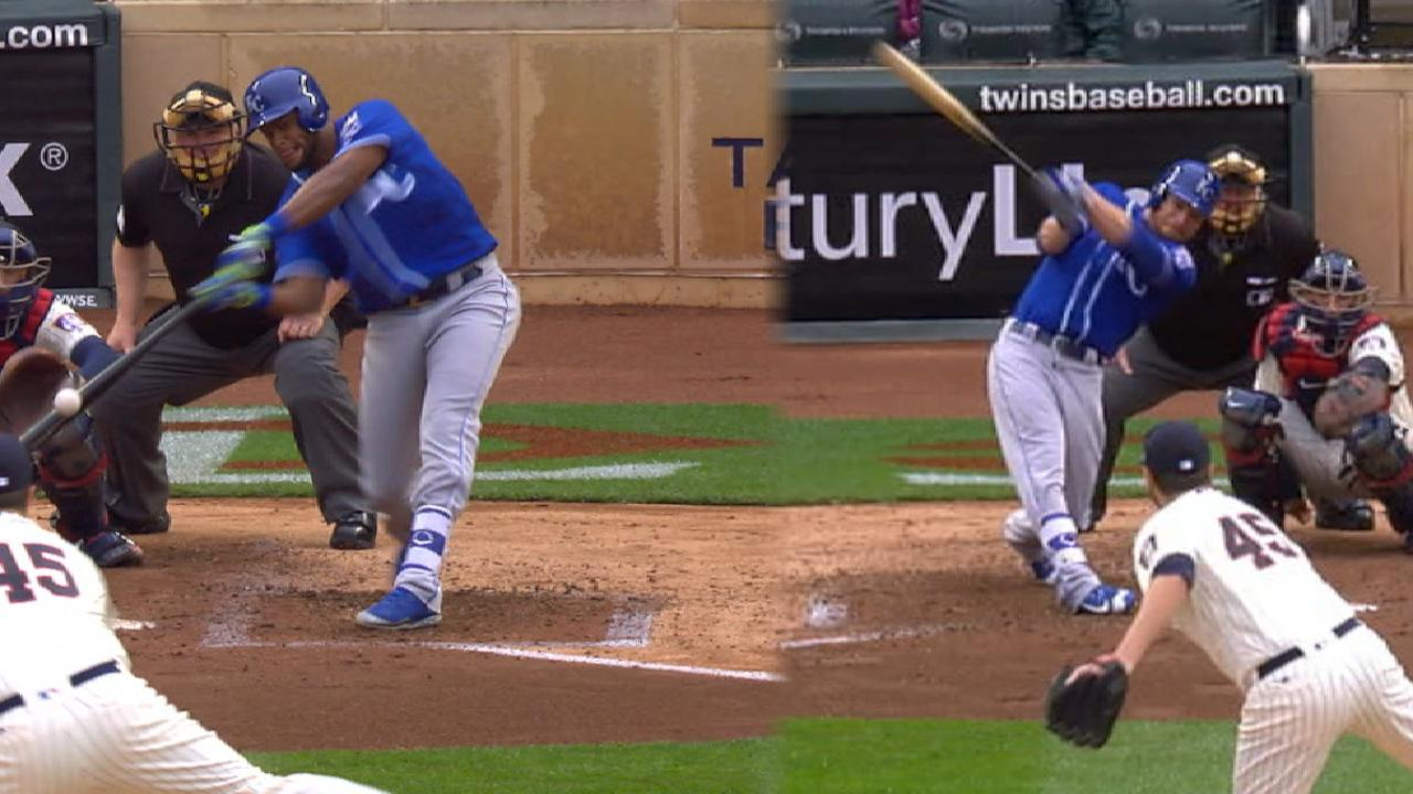 Royals hit back-to-back homers