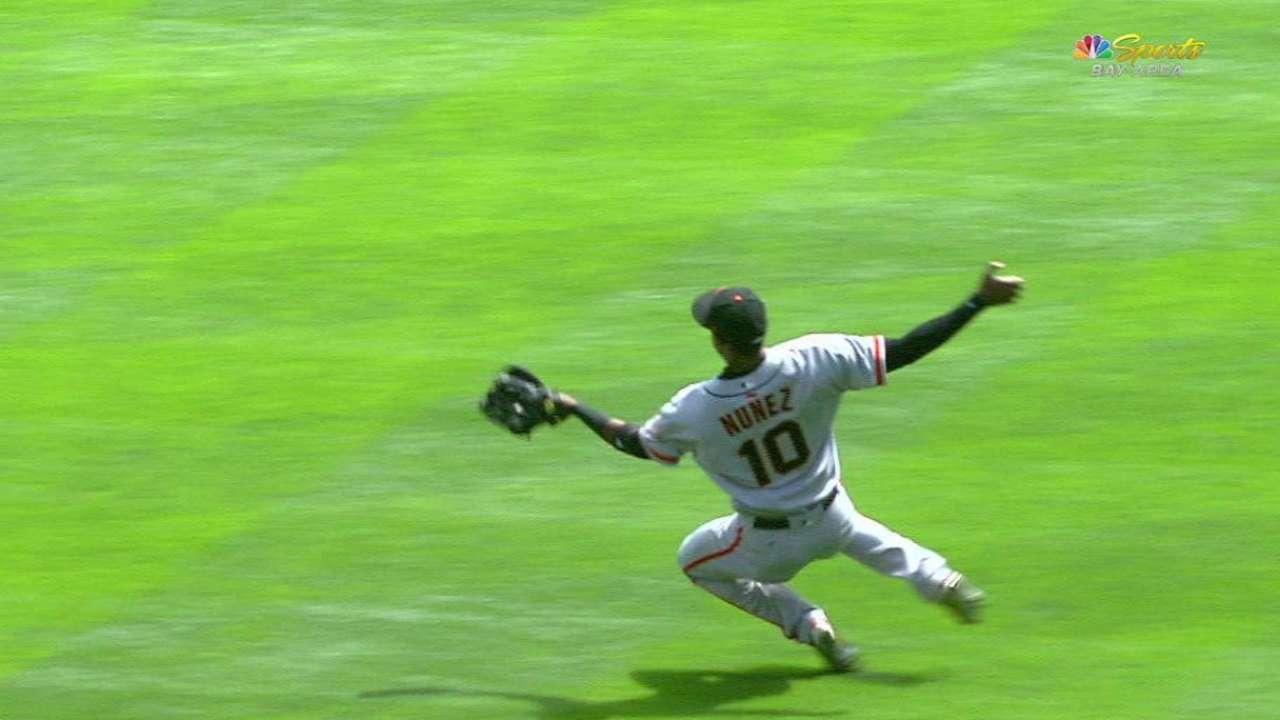 Nunez's terrific sliding catch