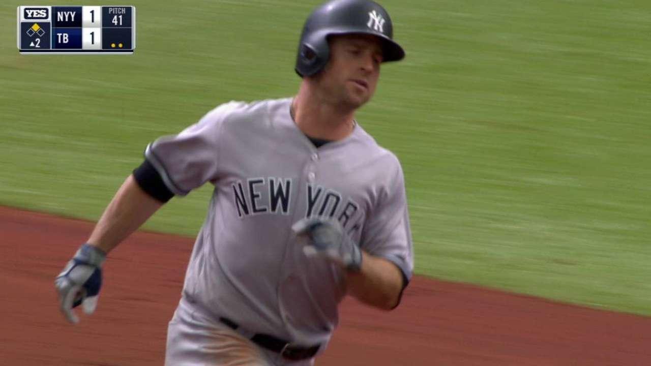 Gardner's bat, Judge's glove lead win vs. Rays