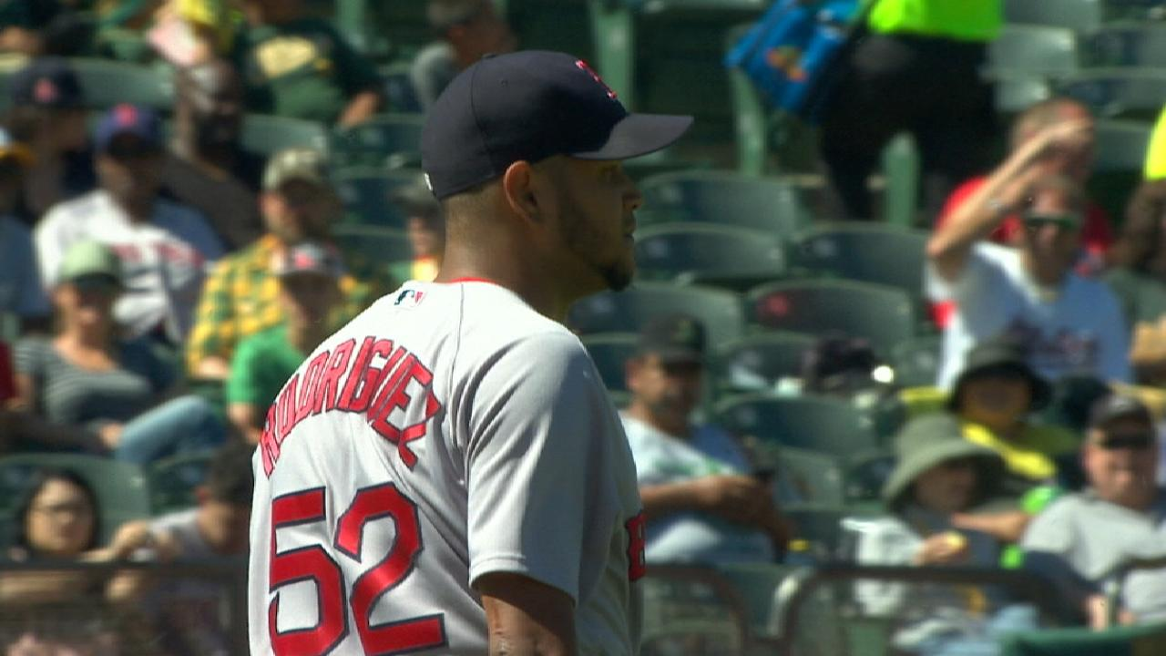 E-Rod's stellar outing, bats lift Red Sox over A's