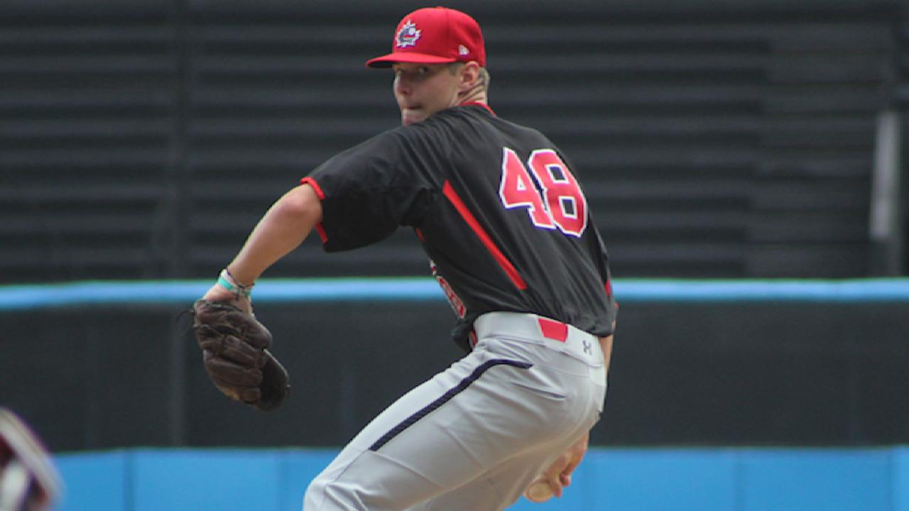 Twins select RHP Leach with No. 37 pick
