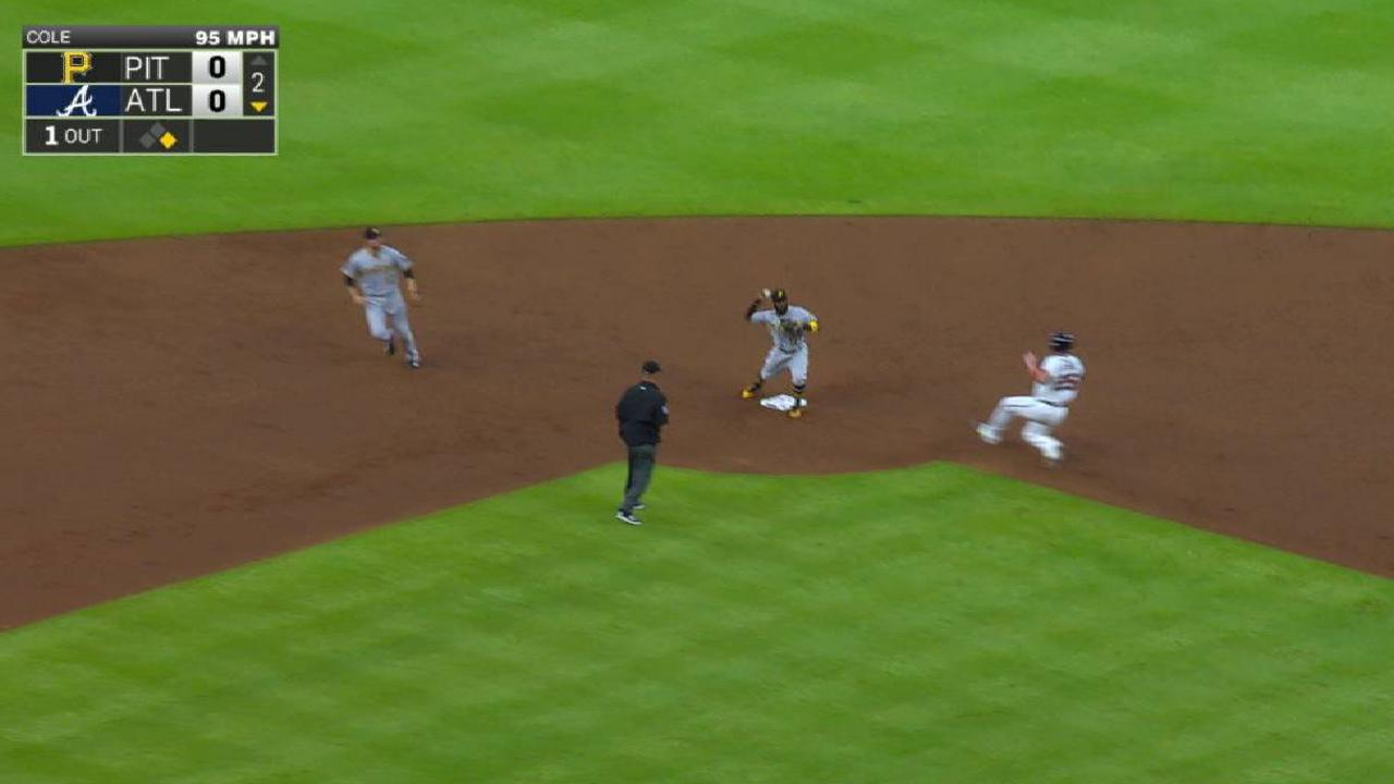 Cole induces a 6-4-3 double play
