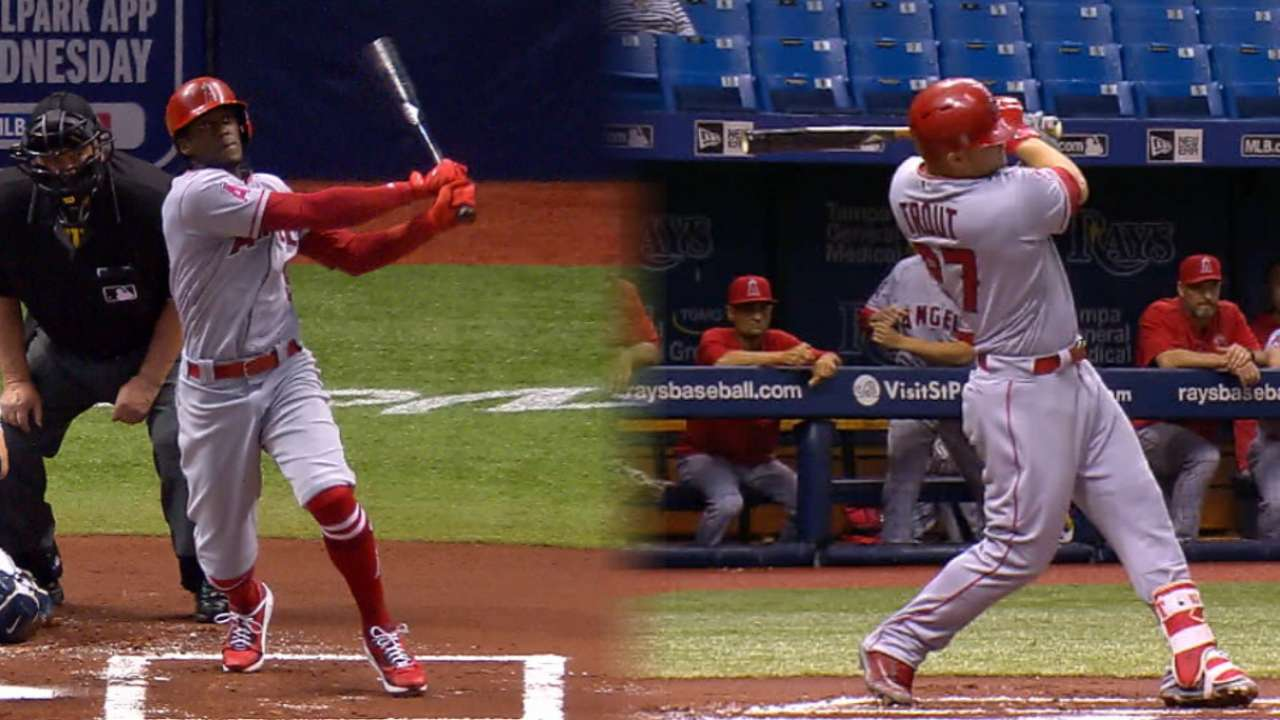 Maybin, Trout go back-to-back