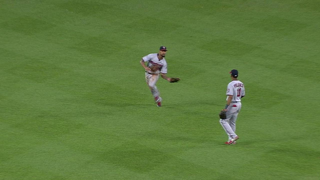 Buxton's running grab in center