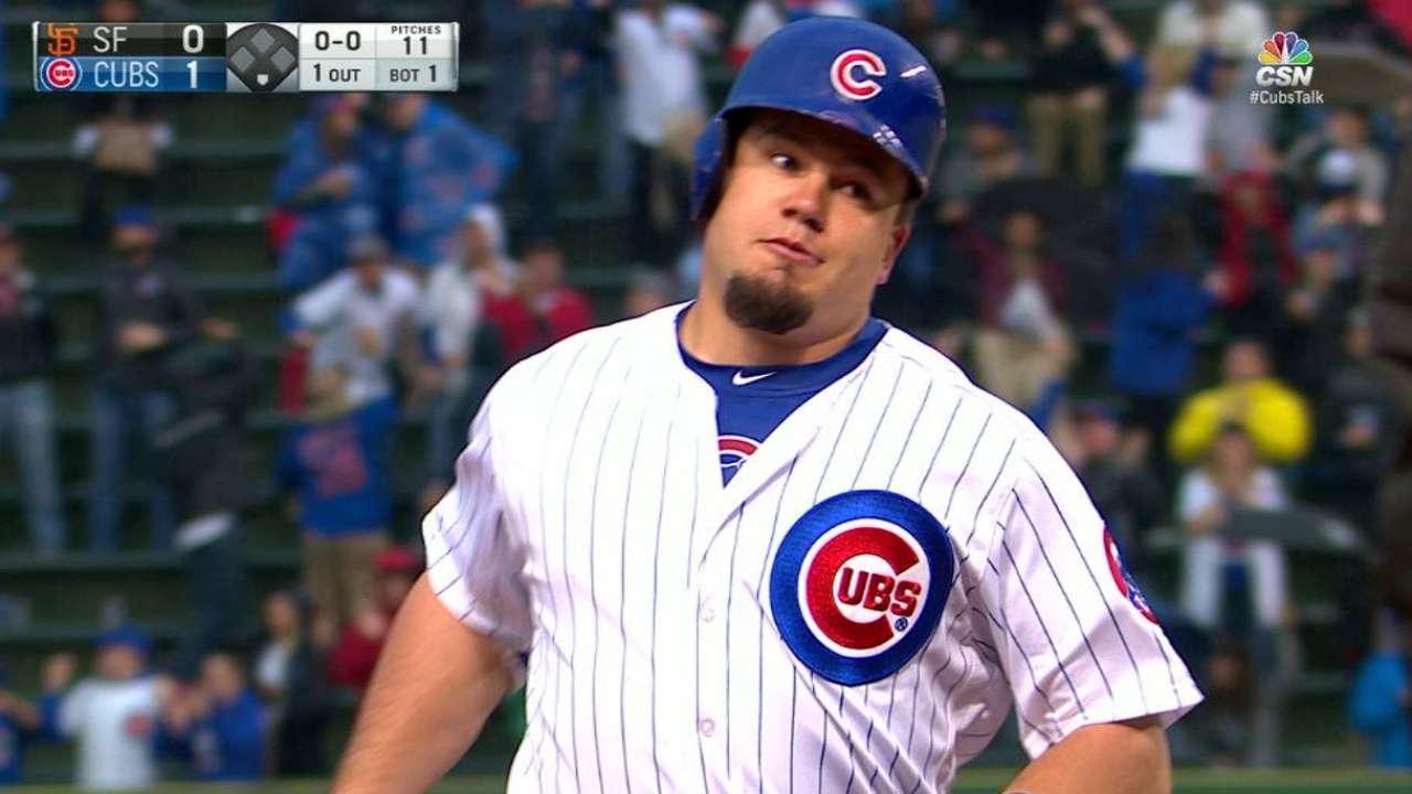 Schwarber's towering solo homer