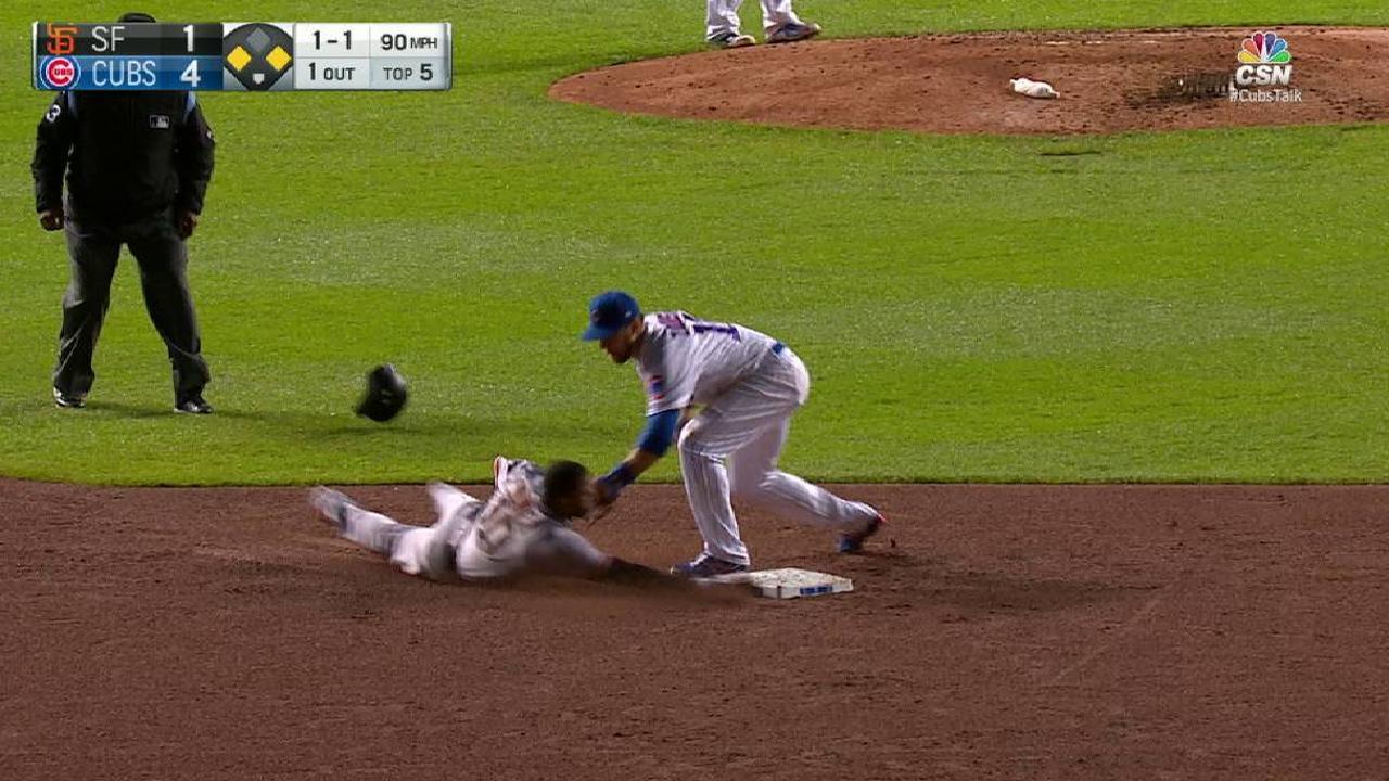 Contreras throws out Nunez