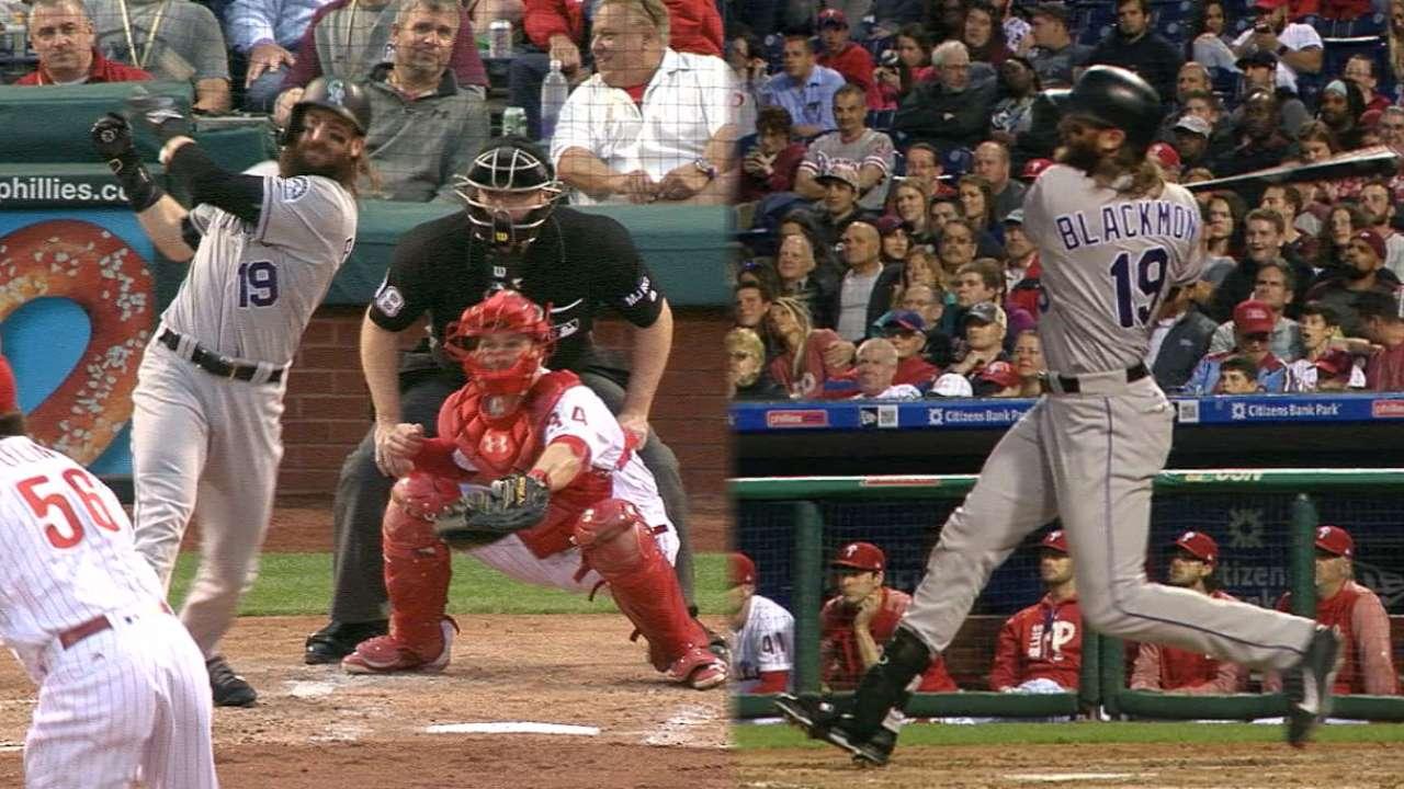 Blackmon hits two home runs
