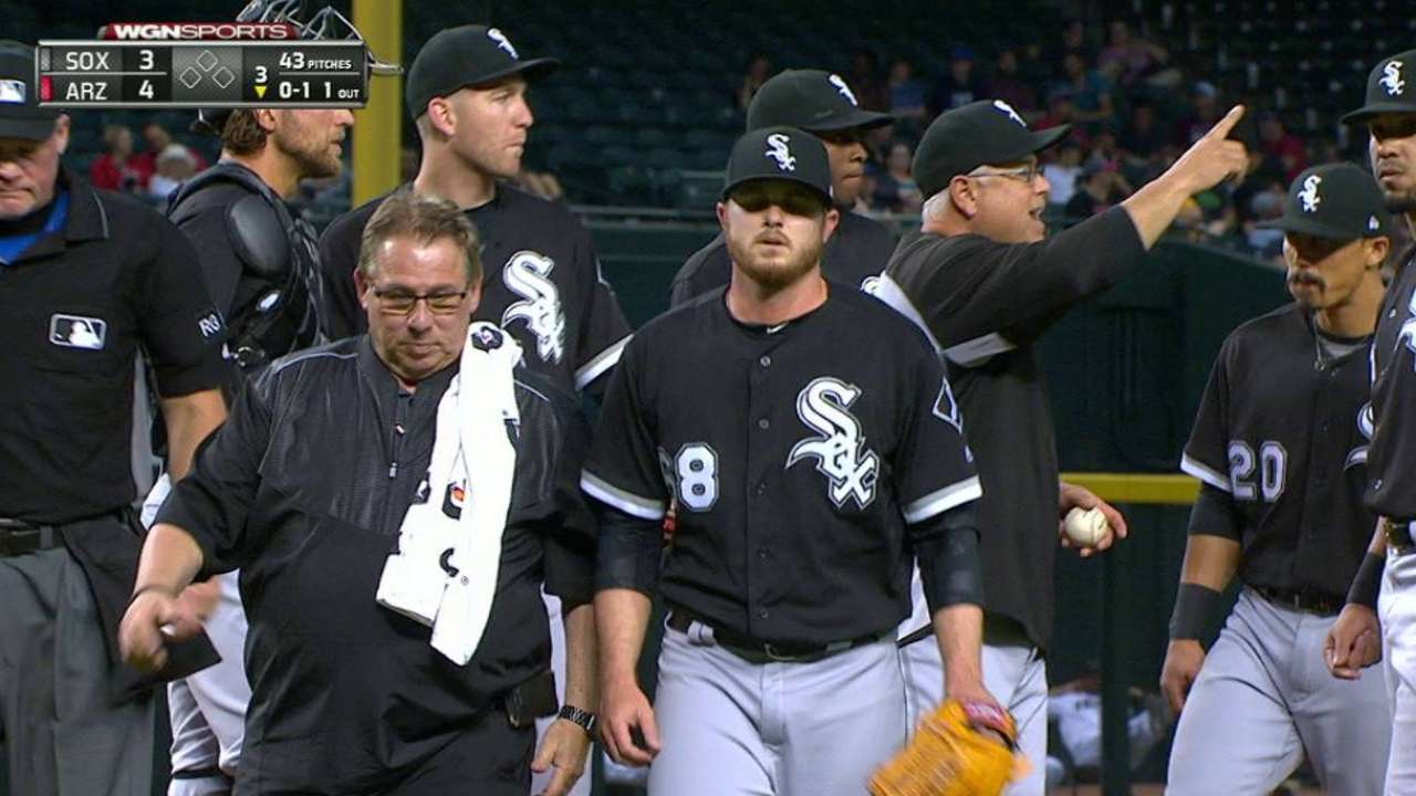 Covey exits start in 3rd with oblique soreness