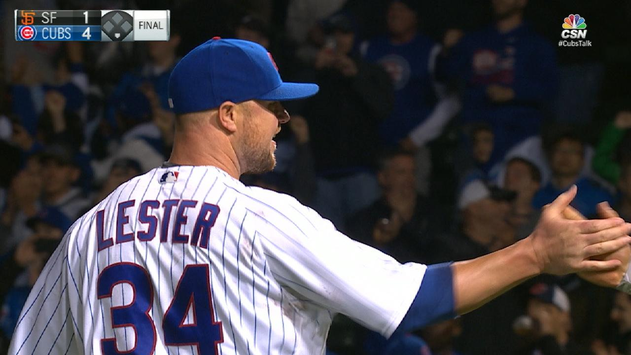 Lester goes distance with 4-hitter, 10 K's